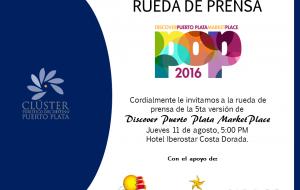RUEDA DE PRENSA DISCOVER PUERTO PLATA MARKETPLACE 2016